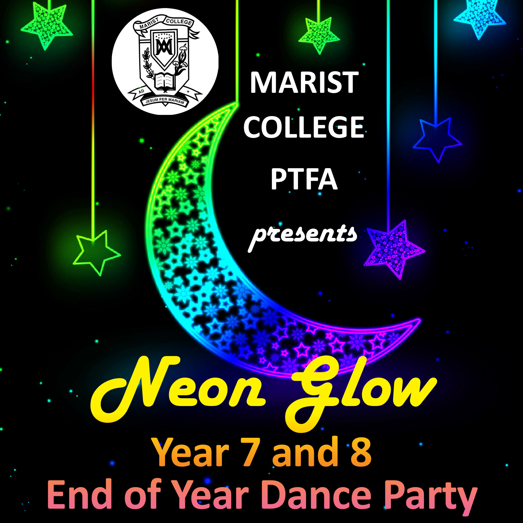 Neon Glow Year 7 & Year 8 Dance Party - Friday 1 November 7-9.30pm